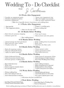 Wedding To Do Checklist For Engaged S